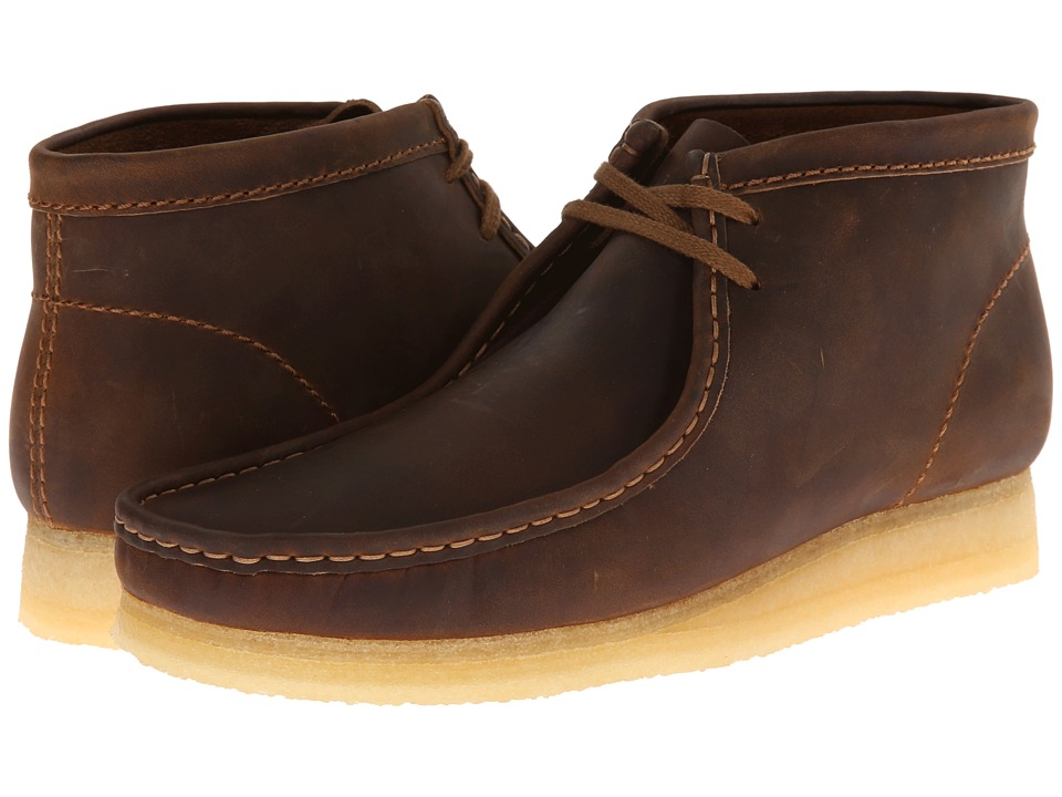 Clarks Wallabee Boot (Beeswax Leather) Men's Lace-up Boots