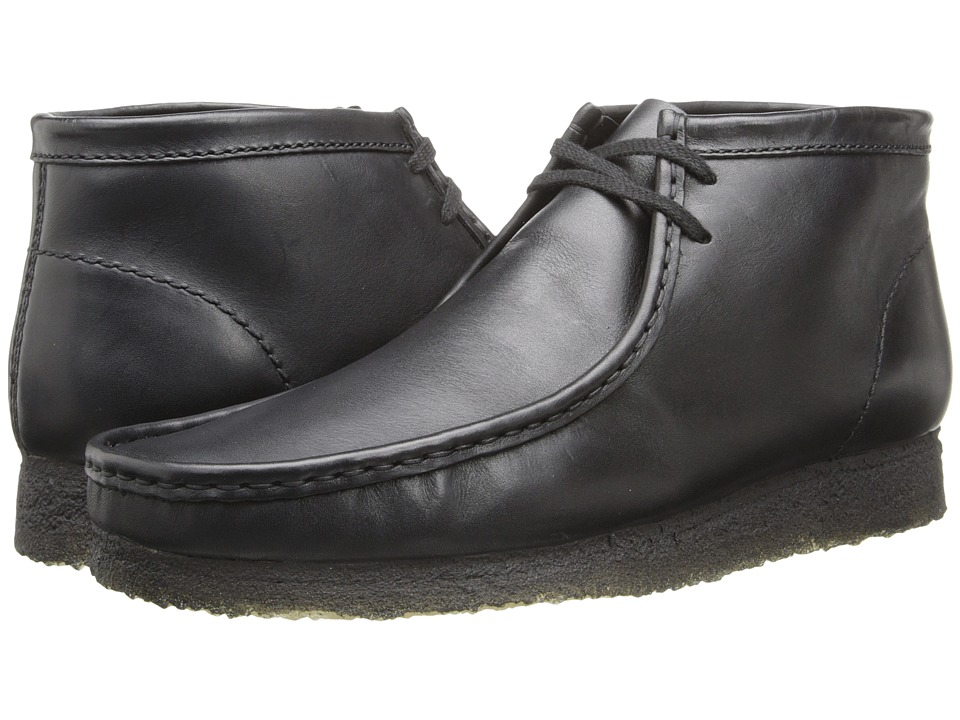 Clarks Wallabee Boot (Black Leather) Men's Lace-up Boots