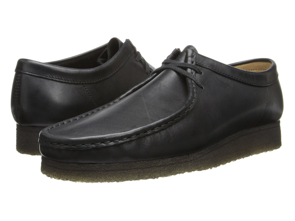 Clarks Wallabee (Black Leather) Men's Lace up casual Shoes
