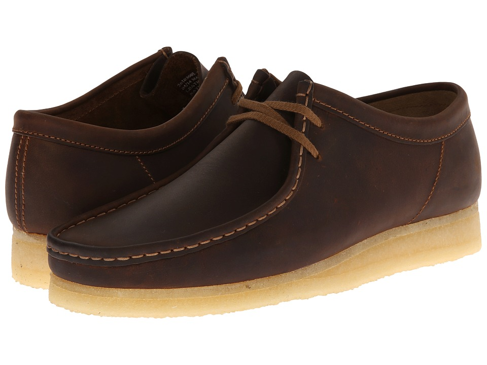 Clarks Wallabee (Beeswax Leather) Men's Lace up casual Shoes