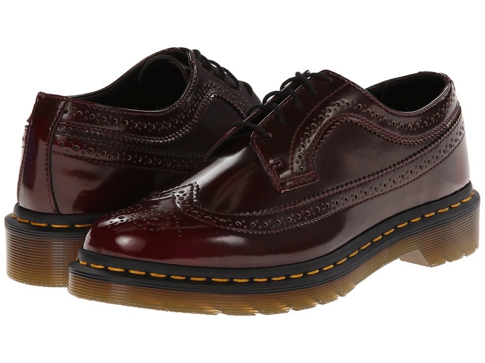 Dr. Martens 3989 Wingtip Shoe (Cherry Red Cambridge Brush) Women