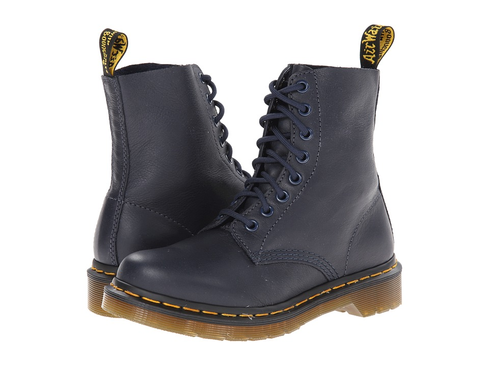 Dr. Martens Pascal 8 Eye Boot Dress Blue Virginia Womens Lace up Boots