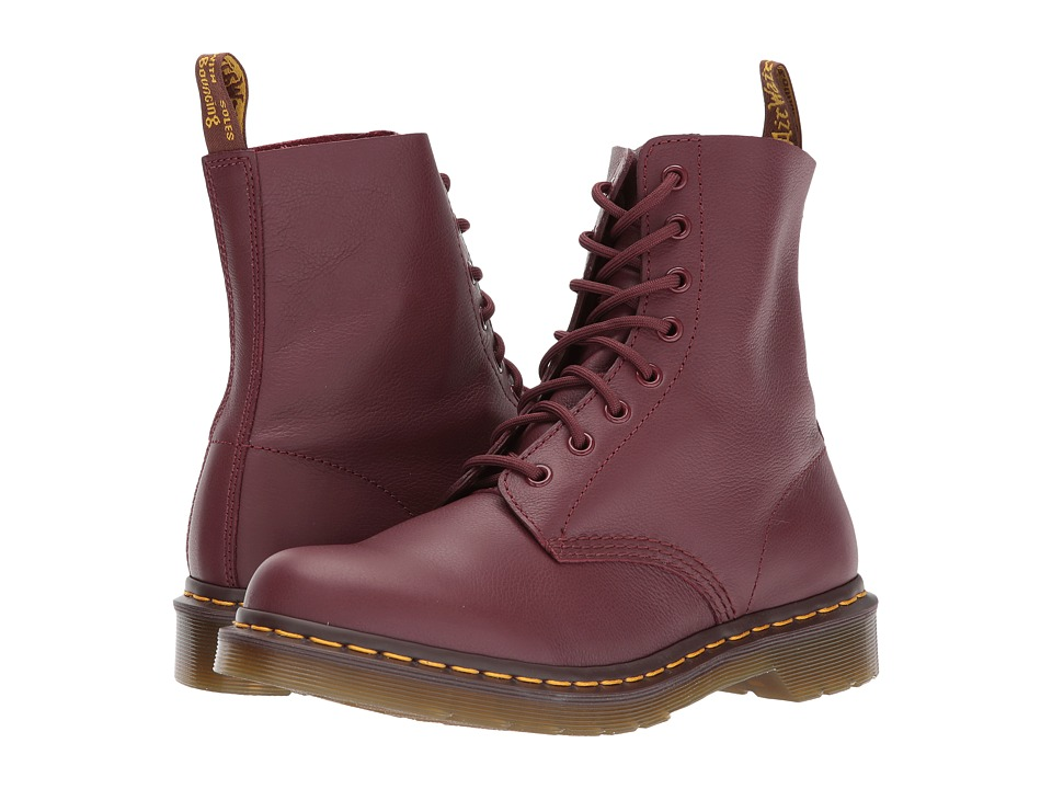 Dr. Martens Pascal 8 Eye Boot Cherry Red Virginia Womens Lace up Boots