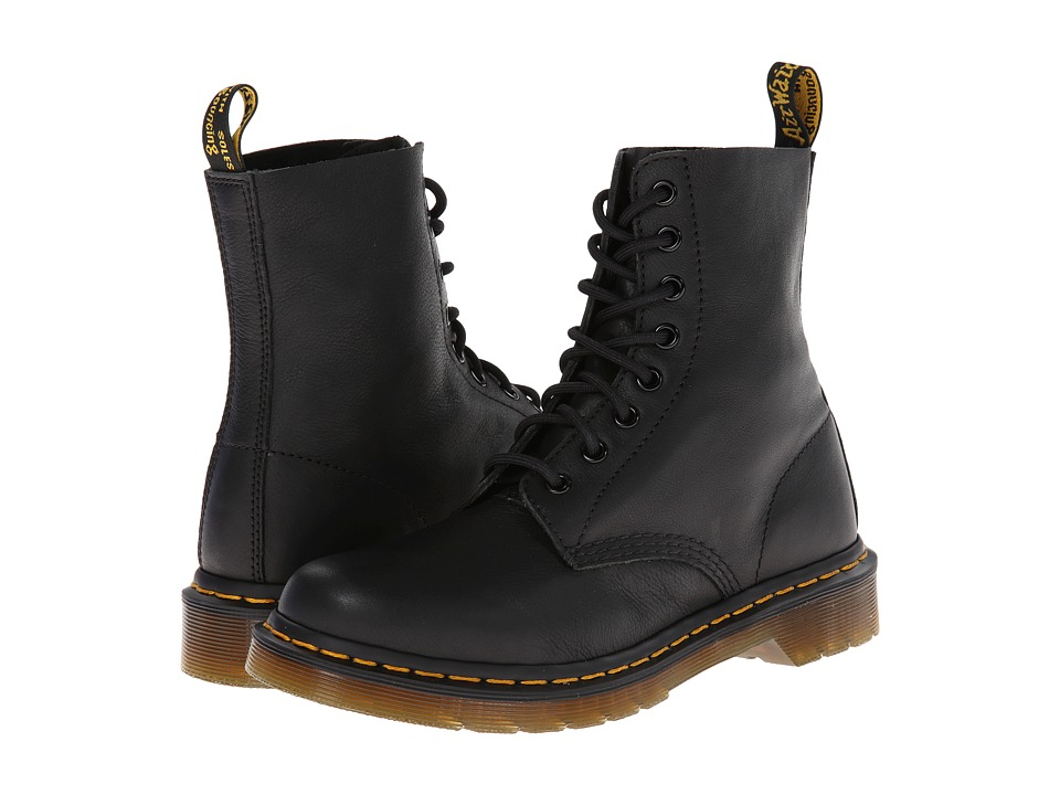 Dr. Martens Pascal 8 Eye Boot Black Virginia Womens Lace up Boots