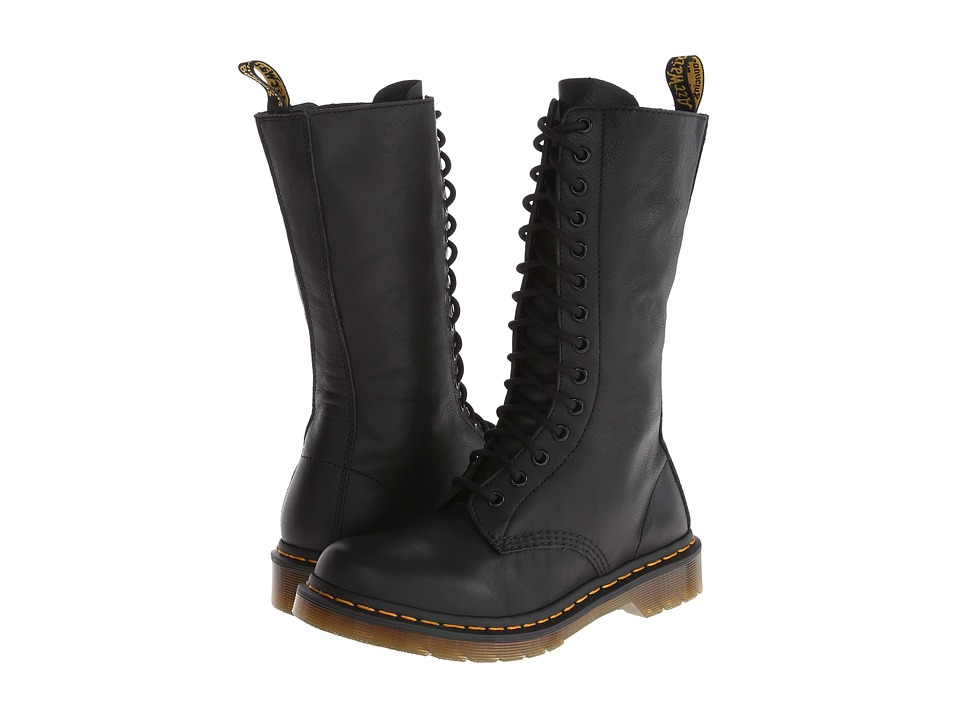 Dr. Martens 1B99 14-Eye Zip Boot (Black Virginia)