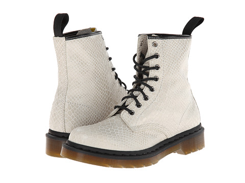 bc94f519085 Click Here to Get Dr Martens 1460 8 Eye Boot Off White Hi Shine Snake Boots  + Free Super Save Shipping ~