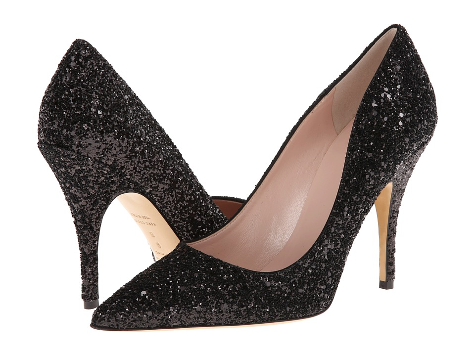 Kate Spade New York Licorice (Black Glitter) High Heel Shoes