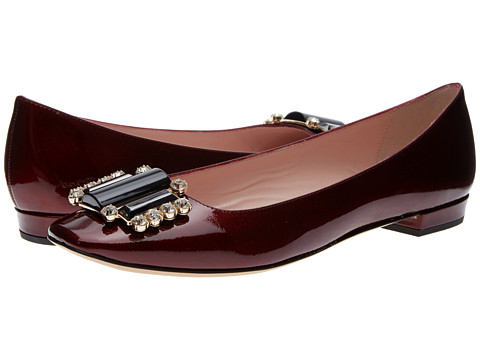Shop Kate Spade New York online and buy Kate Spade New York Nisella Ruby Saffiano Patent Footwear - Zappos.com is proud to offer the Kate Spade New York - Nisella (Ruby Saffiano Patent) - Footwear: Whether you're in jeans or a cocktail dress the Nisella is sure to top it off! ; Patent leather upper. ; Slip-on construction. ; Gold-tone hardware encases shining rhinestones ; Squared toe. ; Leather lining. ; Cushioned leather insole. ; Small wrapped heel. ; Leather sole. ; Made in Italy. Measurements: ; Heel Height: 3 4 in ; Weight: 7 oz ; Product measurements were taken using size 9, width M. Please note that measurements may vary by size.