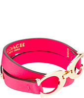 COACH - Twin Sig C Double Leather Bracelet