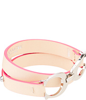 COACH - Twin Sig C Double Leather Bracelet