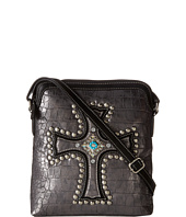 M&F Western - Croco Cross Messenger Bag