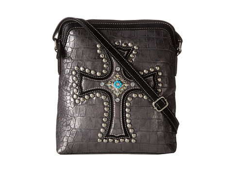 M&F Western Croco Cross Messenger Bag