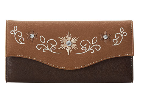M&F Western Embroidered Flower Wallet