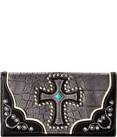 M&F Western - Croco Cross Wallet