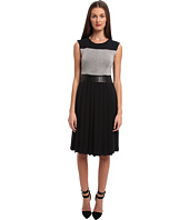 CoSTUME NATIONAL - Sleeveless Dress w/ Pleat Skirt