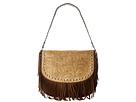 M&F Western Tooled Fringe Shoulder Bag Small (Brown)