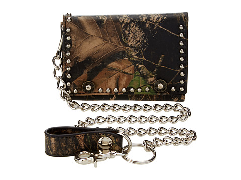 M&F Western Mossy Oak Camo Tri-Fold Wallet w/ Chain - Mossy Oak Camo