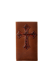 M&F Western - Tooled Cross Overlay Rodeo Wallet