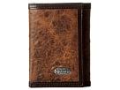 M&F Western Nocona Vintage Ostrich Tri-Fold Wallet (Brown)