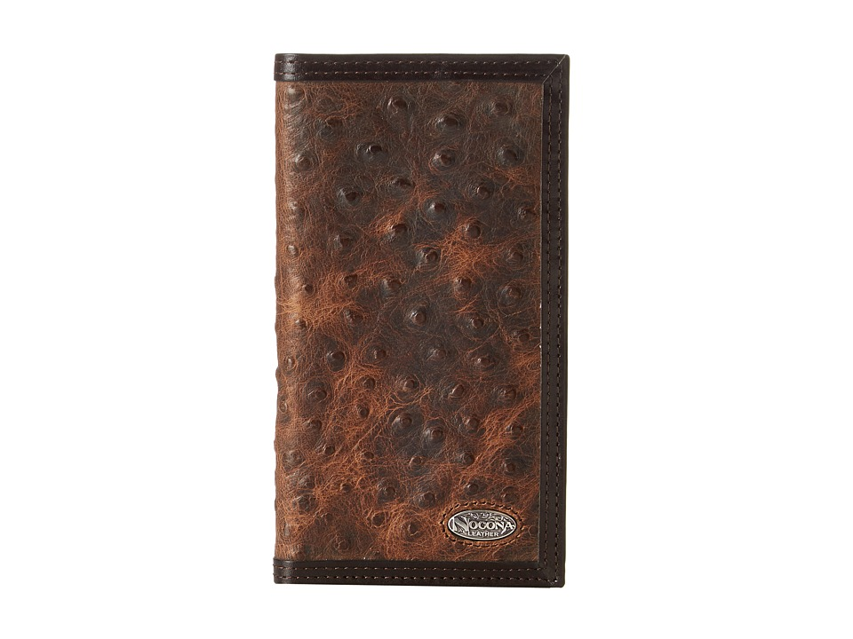 M&F Western - Nocona Vintage Ostrich Rodeo Wallet (Brown) Wallet Handbags