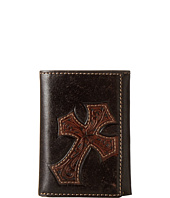 M&F Western - Embossed Diagonal Cross Tri-Fold Wallet