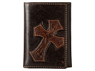 M&F Western - Embossed Diagonal Cross Tri-Fold Wallet