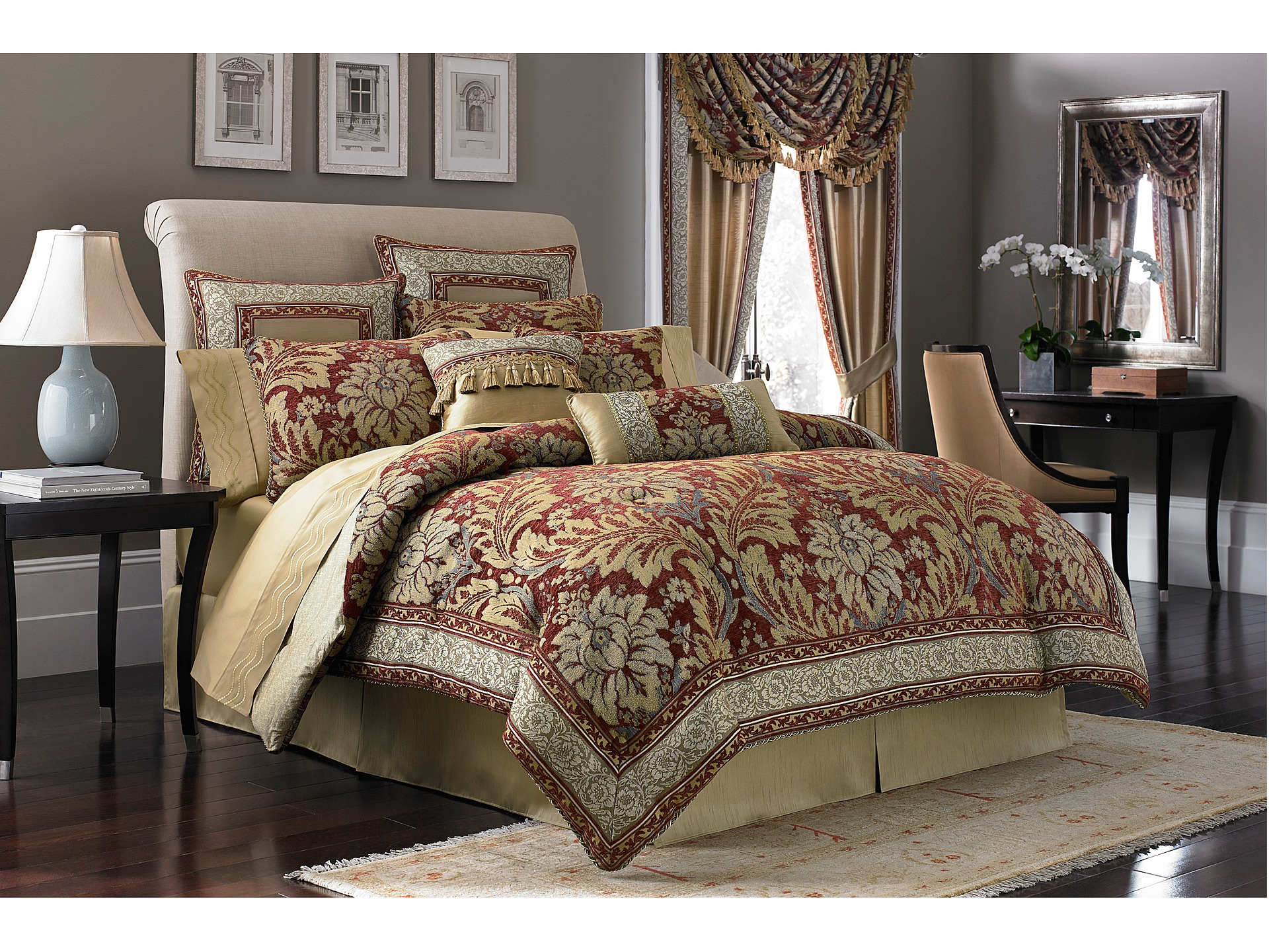 Croscill Fresco Comforter Set King Red Shipped Free At