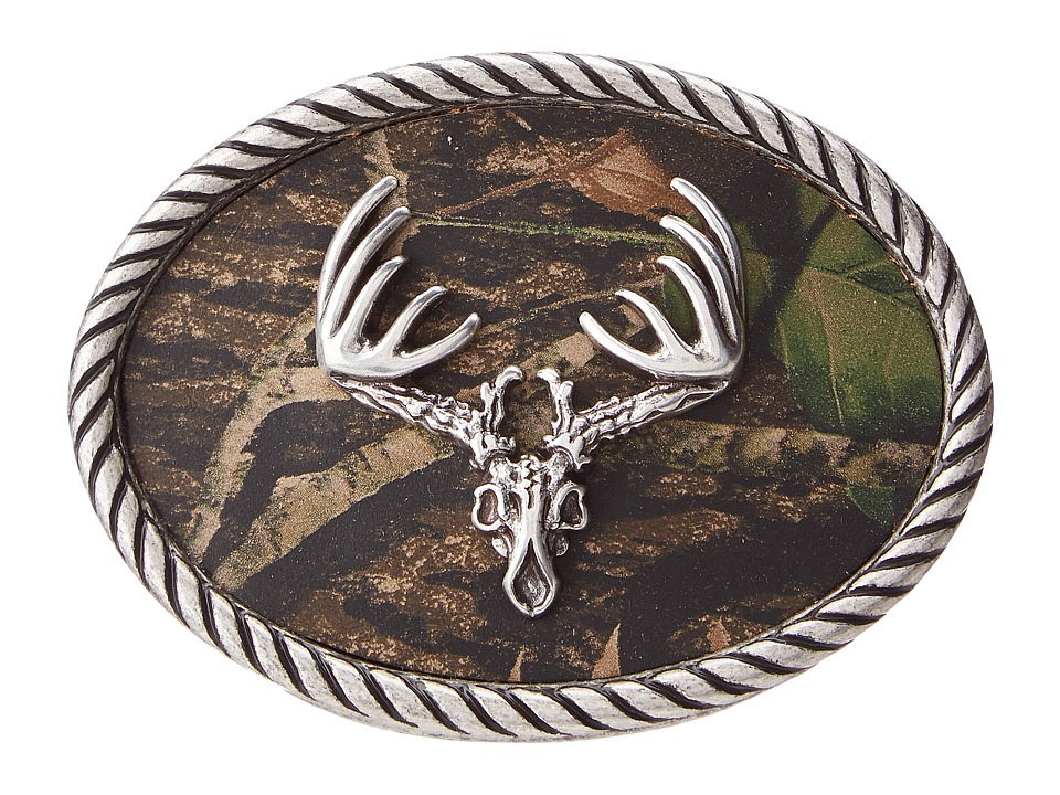 M&F Western - Deer Skull Mossy Oak Camo Buckle (Mossy Oak) Mens Belts