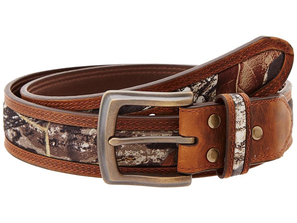 M&F Western - Mossy Oak Camo Double Stitch Belt (Mossy Oak) Mens Belts