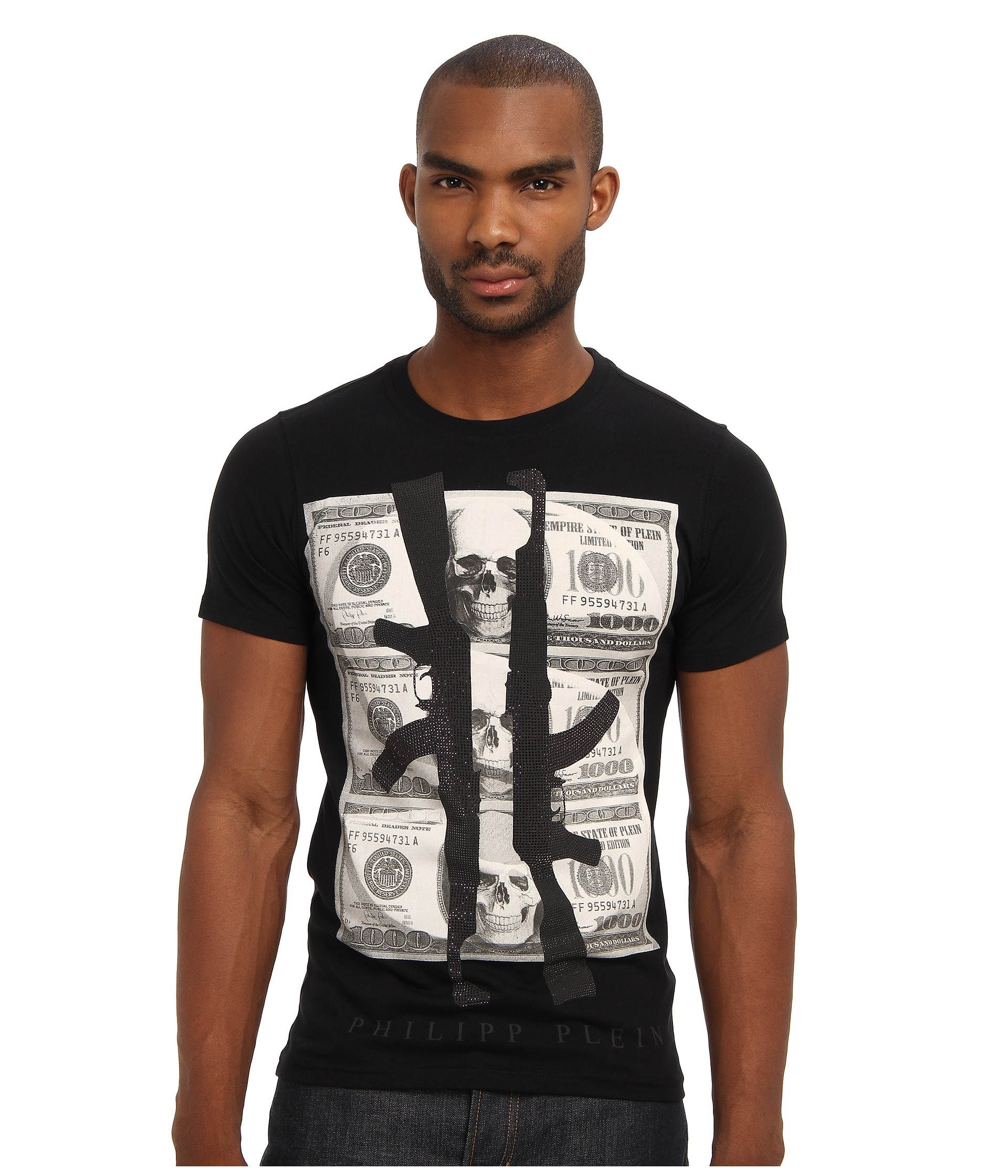 philipp plein dollar t shirt shipped free at zappos. Black Bedroom Furniture Sets. Home Design Ideas
