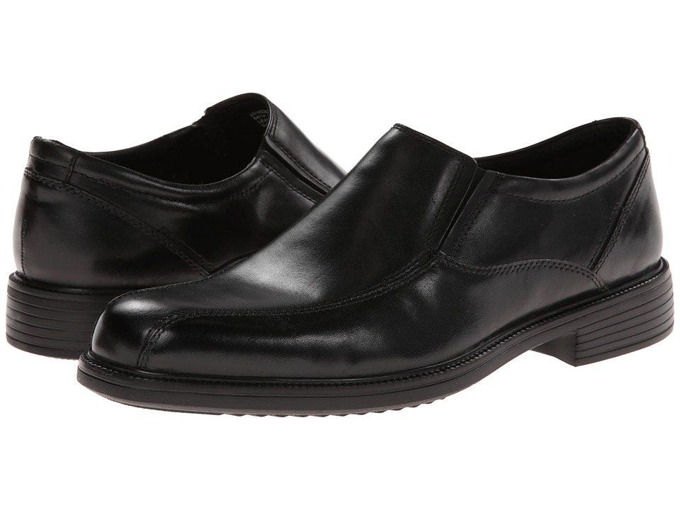 Bostonian Bardwell Step (Black Leather) Men's Slip-on Dre...