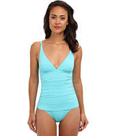 Tommy Bahama - Pearl Solids V-Neck Cup One-Piece