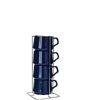 Dansk - Kobenstyle Teacups S/4 w/ Rack