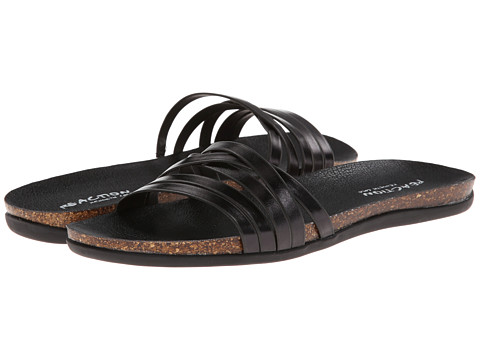 Shop Kenneth Cole Reaction online and buy Kenneth Cole Reaction Slim Cut Black 6D Shoes - Kenneth Cole Reaction - Slim Cut (Black 6D) - Footwear: Top off your look in these sweet Kenneth Cole Reaction sandals! ; Faux leather upper. ; Slip-on design. ; Man-made lining and footbed. ; Contrast color cork and synthetic outsole. ; Imported. Measurements: ; Weight: 8 oz ; Product measurements were taken using size 8.5, width M. Please note that measurements may vary by size.