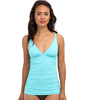 Tommy Bahama - Pearl Solids V-Neck Cup Long Tankini
