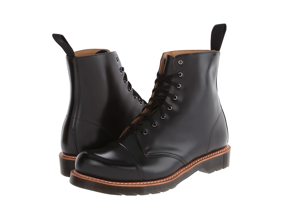Dr. Martens - Charlton 8-Eye Toe Cap Boot (Black Polished Smooth) Men