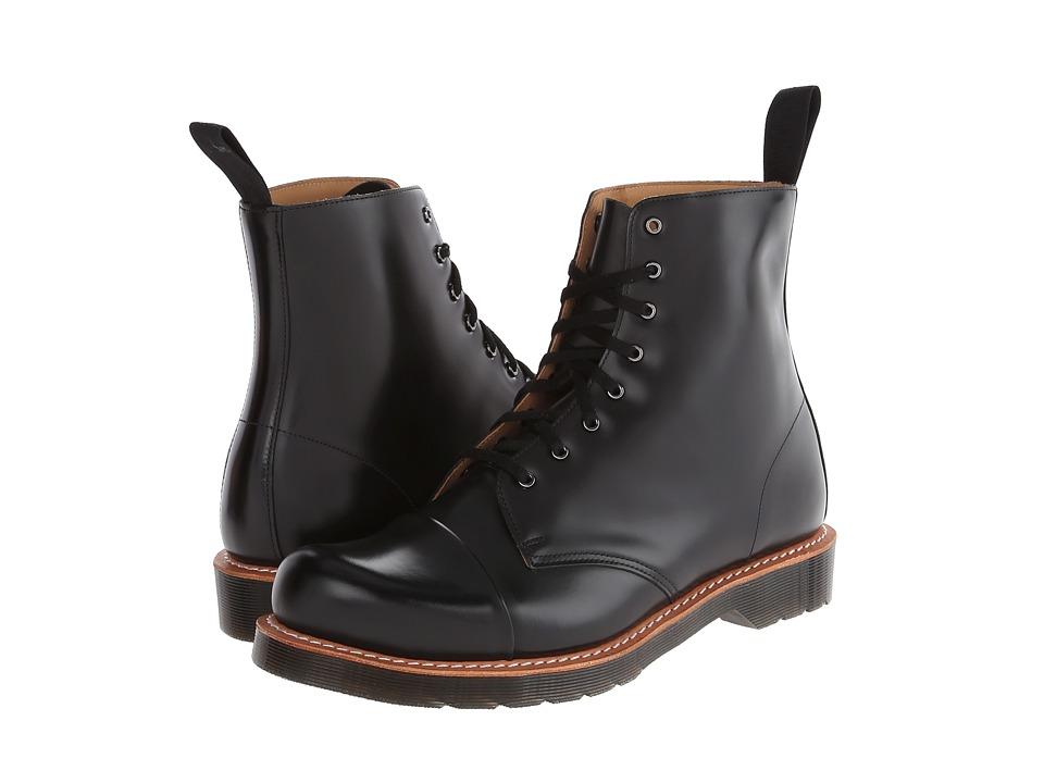 Dr. Martens - Charlton 8-Eye Toe Cap Boot (Black Polished Smooth) Men