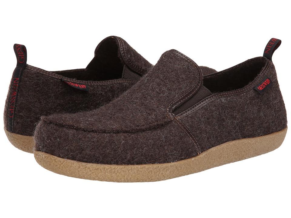 Giesswein Innsbruck Dark Brown Slippers