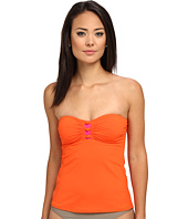 LAUREN Ralph Lauren - Cocoa Beach Color Block Knotted Shirred Tubini