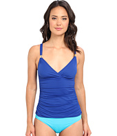 LAUREN by Ralph Lauren - Laguna Solids Shirred Surplice Tankini
