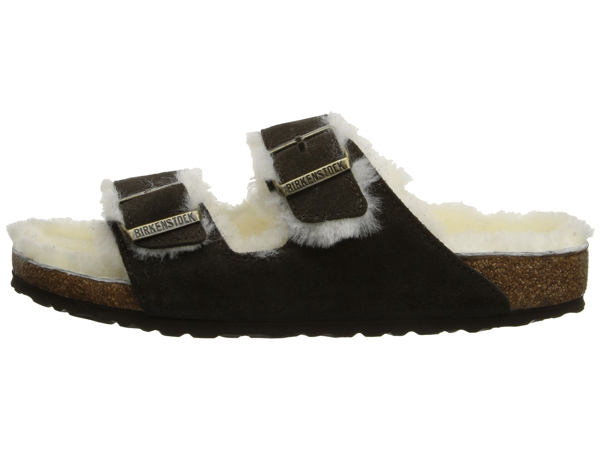 birkenstock arizona black suede/shearling