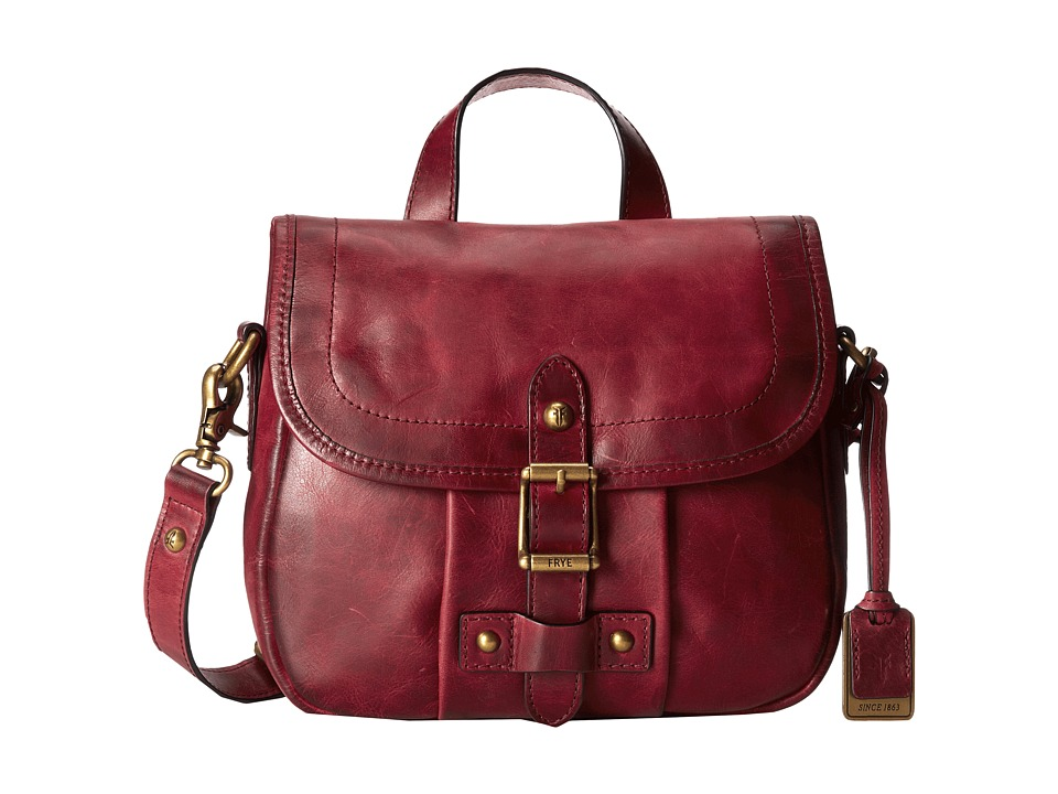 Frye Parker Crossbody Burgundy Antique Pull Up Cross Body Handbags