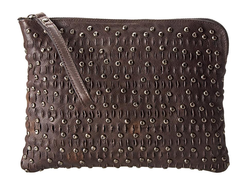 Frye - Diana Stud Tech (Charcoal Tumbled Full Grain) Handbags