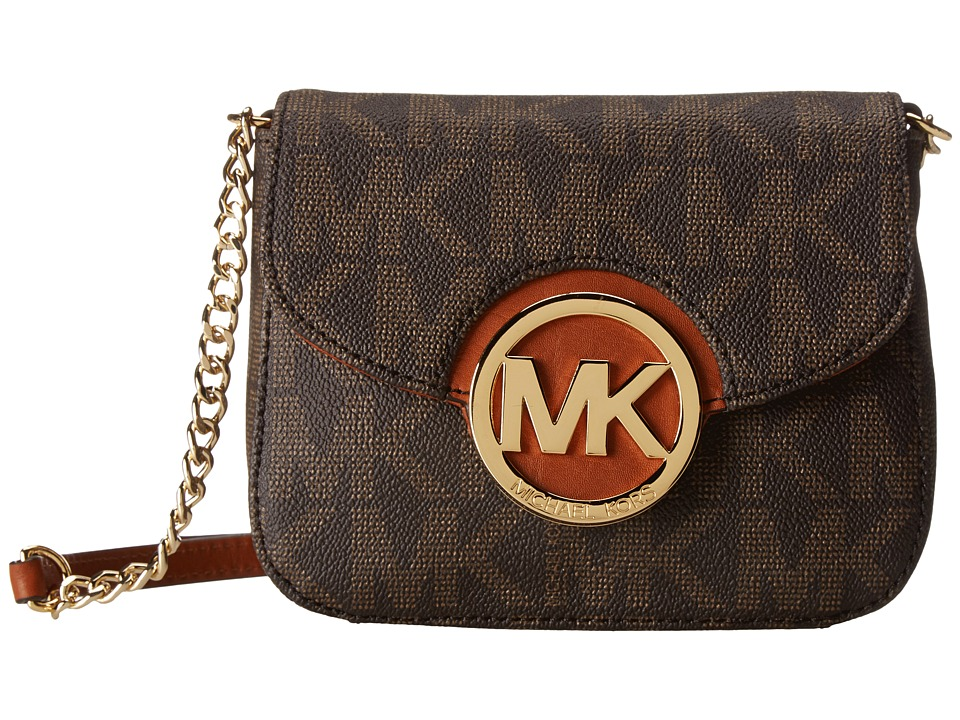 MICHAEL Michael Kors - Fulton Small Crossbody (Brown) Cross Body Handbags