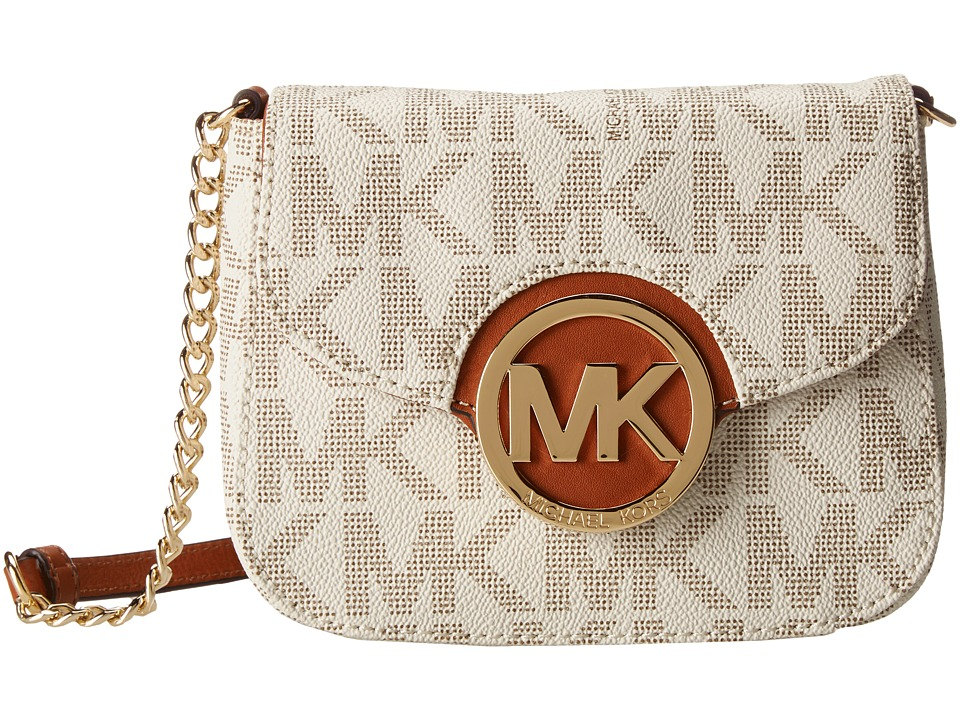 MICHAEL Michael Kors - Fulton Small Crossbody (Vanilla) Cross Body Handbags