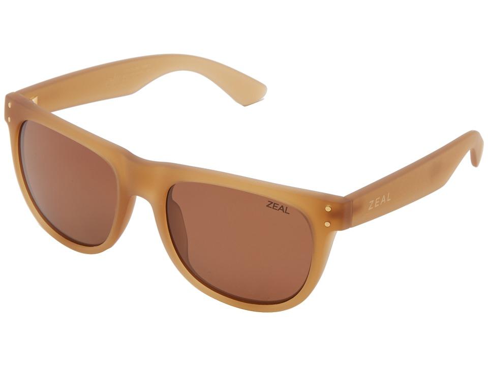 Zeal Optics Ace Desert Sand w/ Polarized Copper Lens Athletic Performance Sport Sunglasses