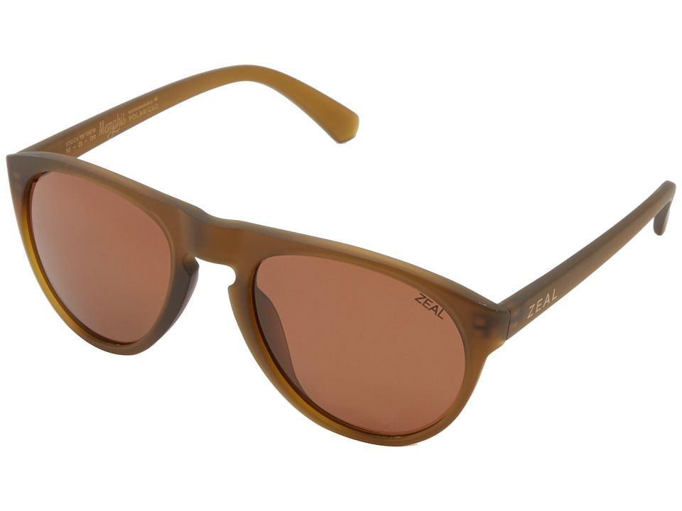 Zeal Optics Memphis Olive w/ Polarized Copper Lens Fashion Sunglasses
