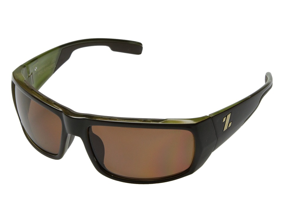 Zeal Optics Snapshot Brown Olive Gloss w/ Polarized Copper Lens Sport Sunglasses