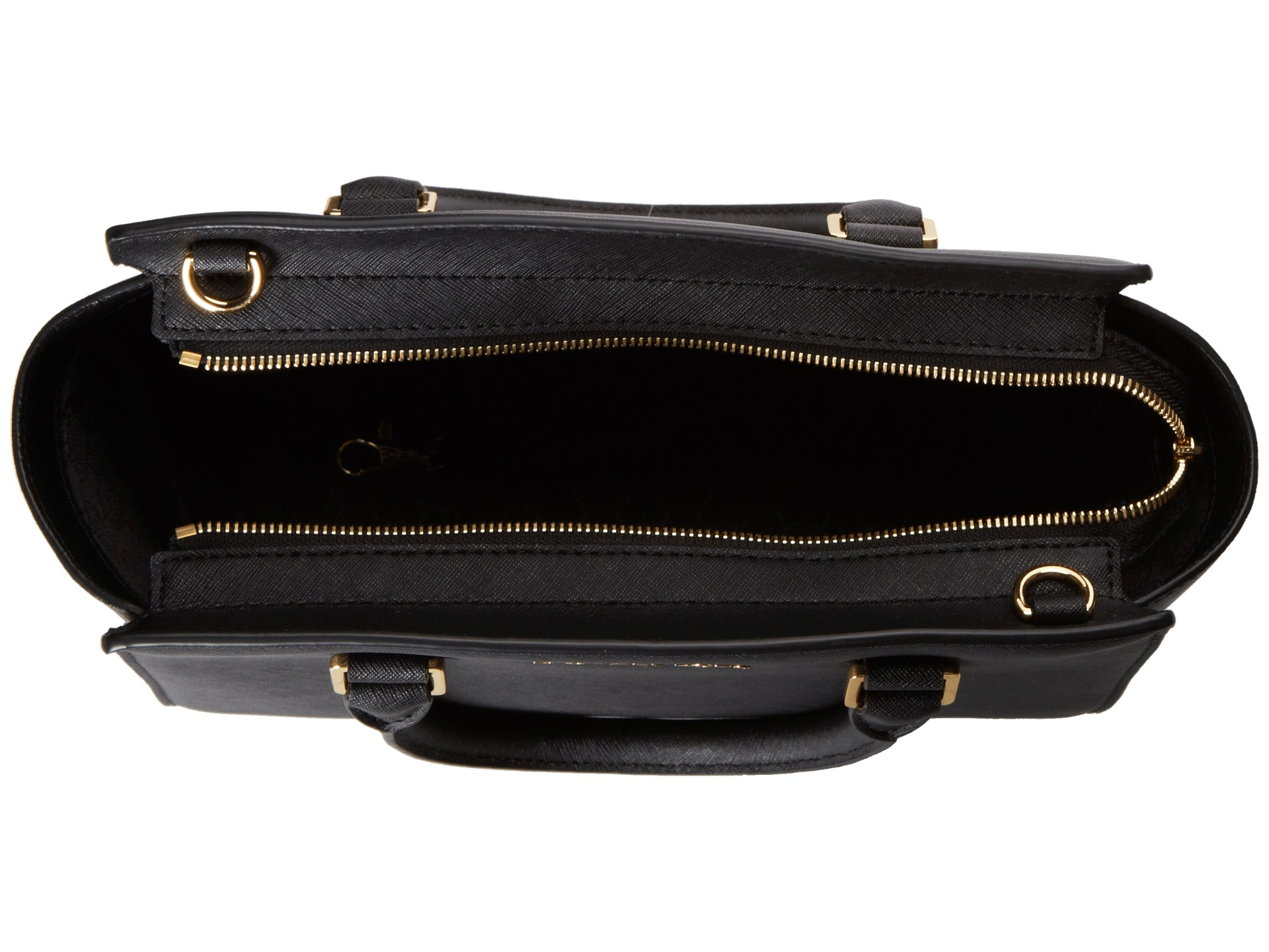 michael michael kors selma medium tz satchel black. Black Bedroom Furniture Sets. Home Design Ideas