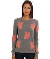 tibi - Melting Floral Intarsia Crewneck Pullover